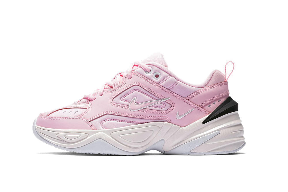 Nike's M2K Tekno Chunky Sneaker Arrives in Pink Spring Colorway Dad Shoe Footwear Trainer
