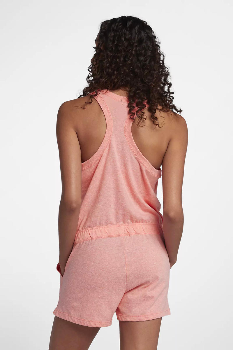 Nike Sportswear Gym Vintage Pink Romper Spring Summer 2018 Pastel Millennial Bleached Coral Sail Price Release Where to Buy Online Store Website Women