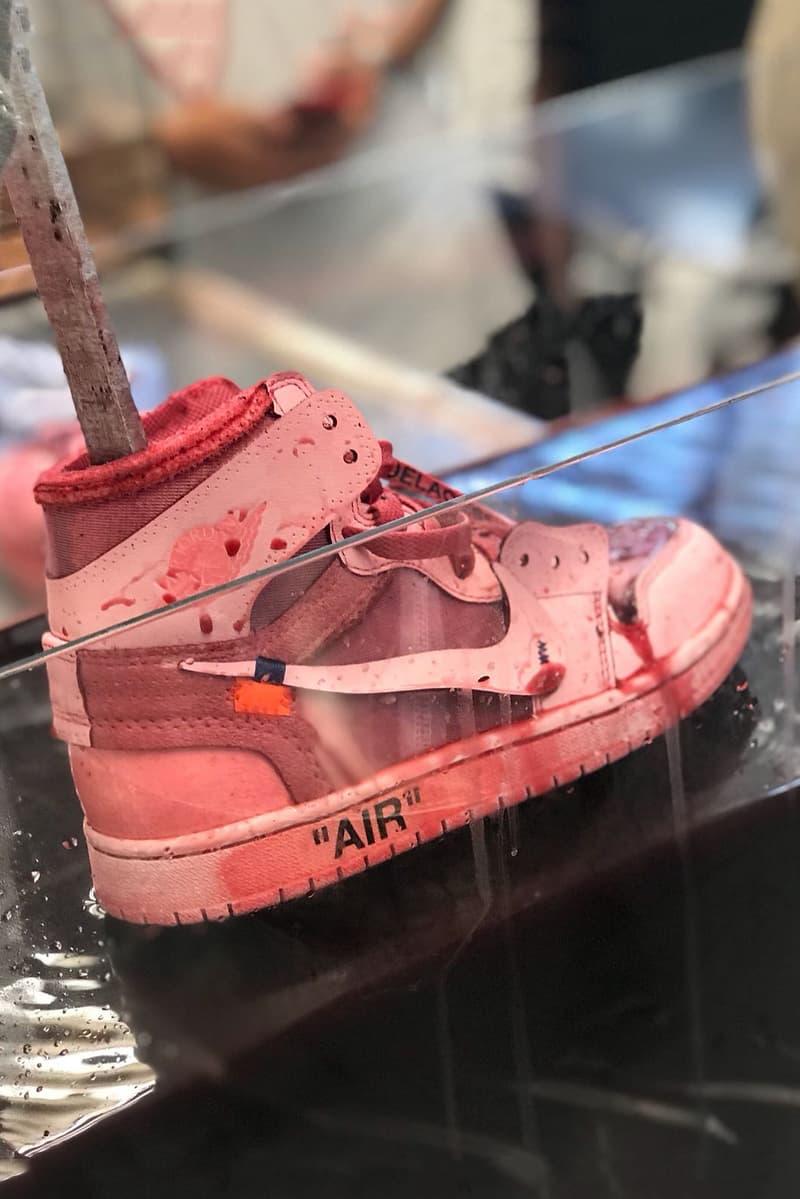 Virgil Abloh x Nike Air Jordan 1 The Ten Custom Red Dye Colorway Chiara Capitani One Block Down