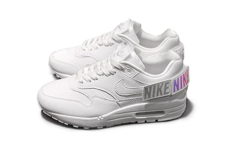 c9d92c4470 Nike Women's Wmns exclusive Customizable Air Max 1 Sneaker Custom Removable Patches  velcro Swoosh Ladies