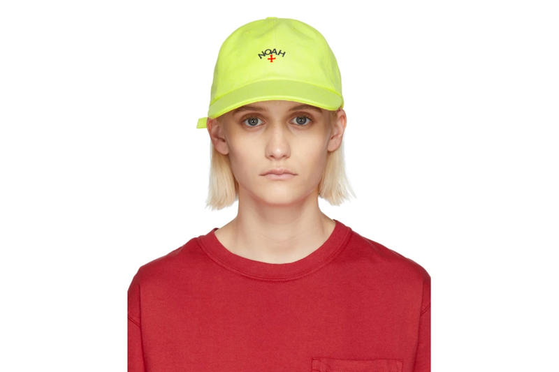 Noah Spring/Summer 2018 Drop Six-Panel Cap Yellow Neon