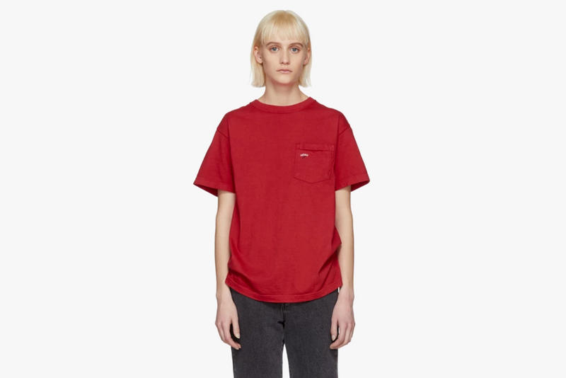 Noah Spring/Summer 2018 Drop Winged Foot Pocket T-Shirt Red