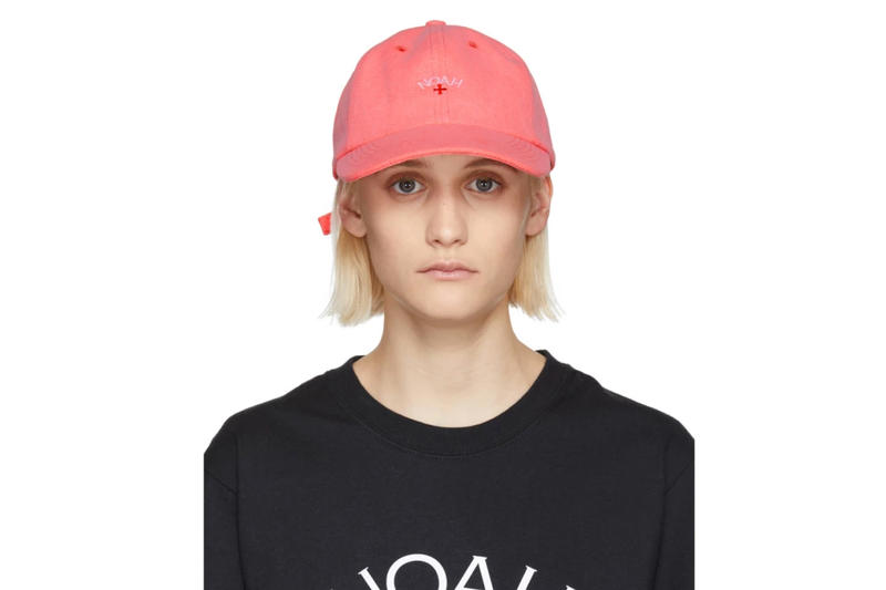 Noah Spring/Summer 2018 Drop Six-Panel Cap Orange Neon