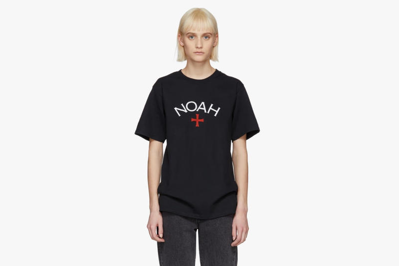 Noah Spring/Summer 2018 Drop Core Logo T-Shirt Black