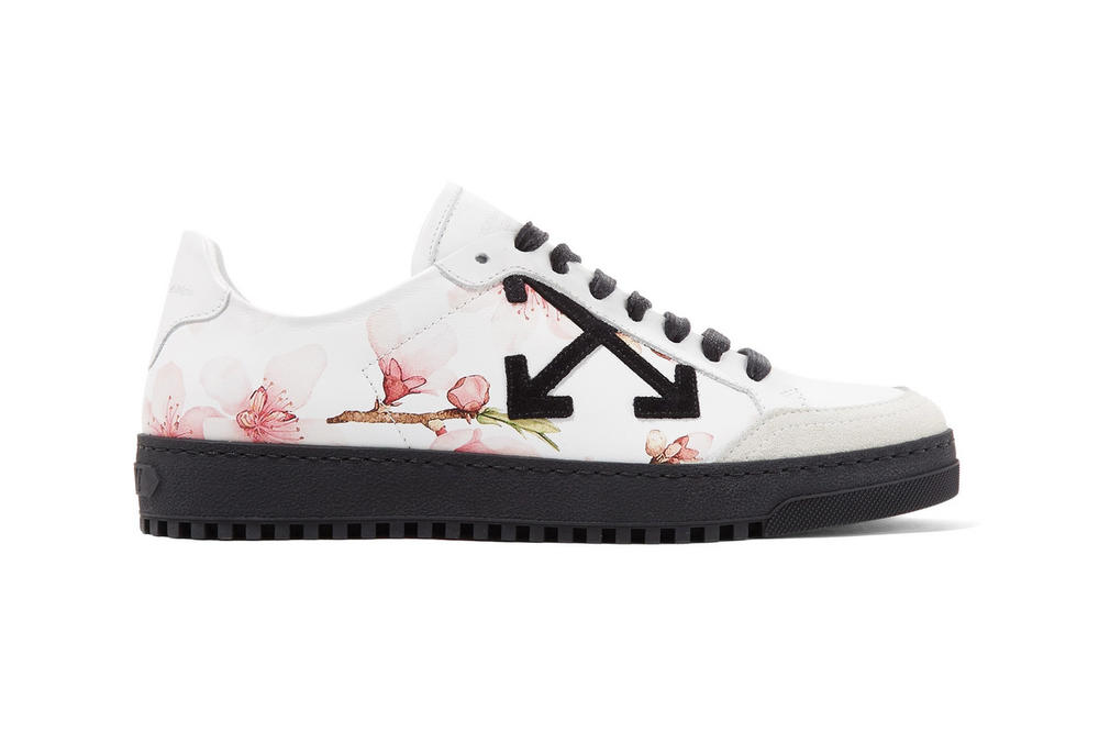 Off-White™ Pink Floral Carryover Sneakers Exclusive Women's Where to Buy net-a-porter