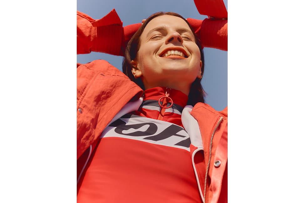 Off-White Logo-Print Stretch Top Faith Connexion x Kappa Jacket Red White