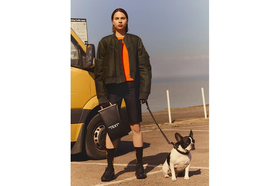 Helmut Lang Bomber Jacket Top Off-White Cycling Shorts Bag Nike Air Max 95 Green Orange Black