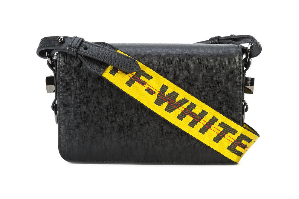 Off-White Mini Binder Clip Bag Black