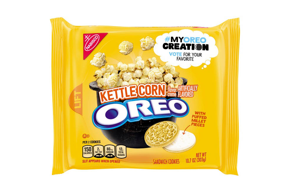 Oreos Cherry Cola Kettle Corn Pina Colada MyOreoCreation Popcorn limited-edition snack cookies biscuits where to buy
