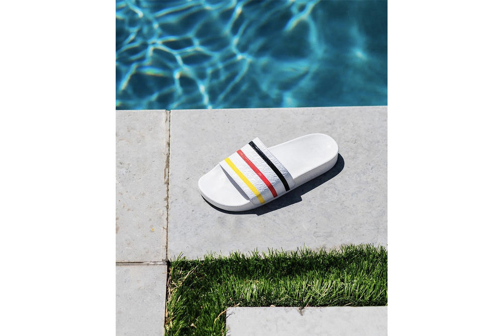 Palace Skateboards x adidas Originals Pool Slides Beach Towel Collaboration London Collab SS18 Spring Summer 2018 Release info date where to buy