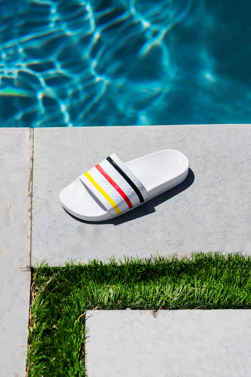 Palace x adidas Originals Summer 2018 Collection Pool Slides White