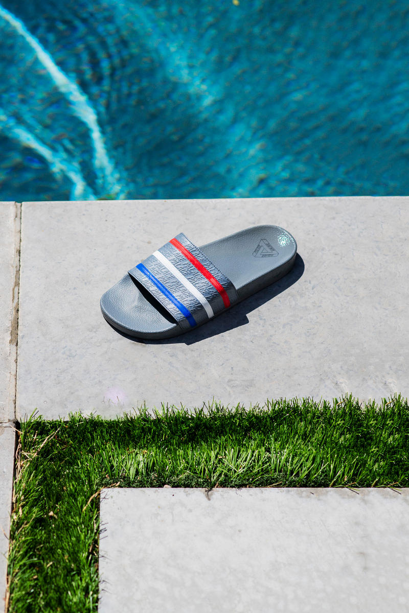Palace x adidas Originals Summer 2018 Collection Pool Slides Grey