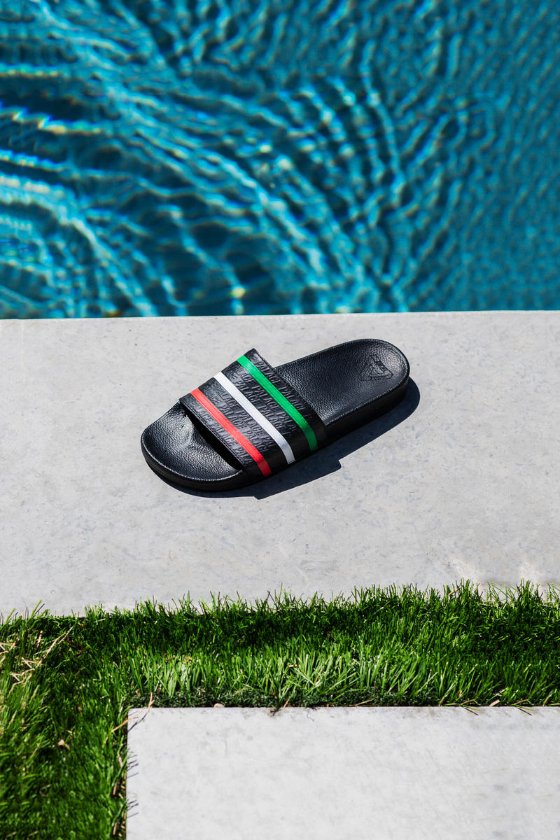 Palace x adidas Originals Summer 2018 Collection Pool Slides Black