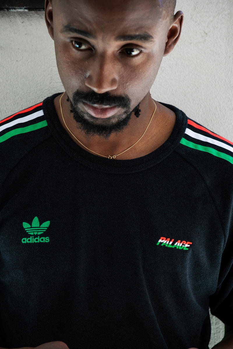 Palace x adidas Originals Summer 2018 Collection Terry Cloth Shirt Black