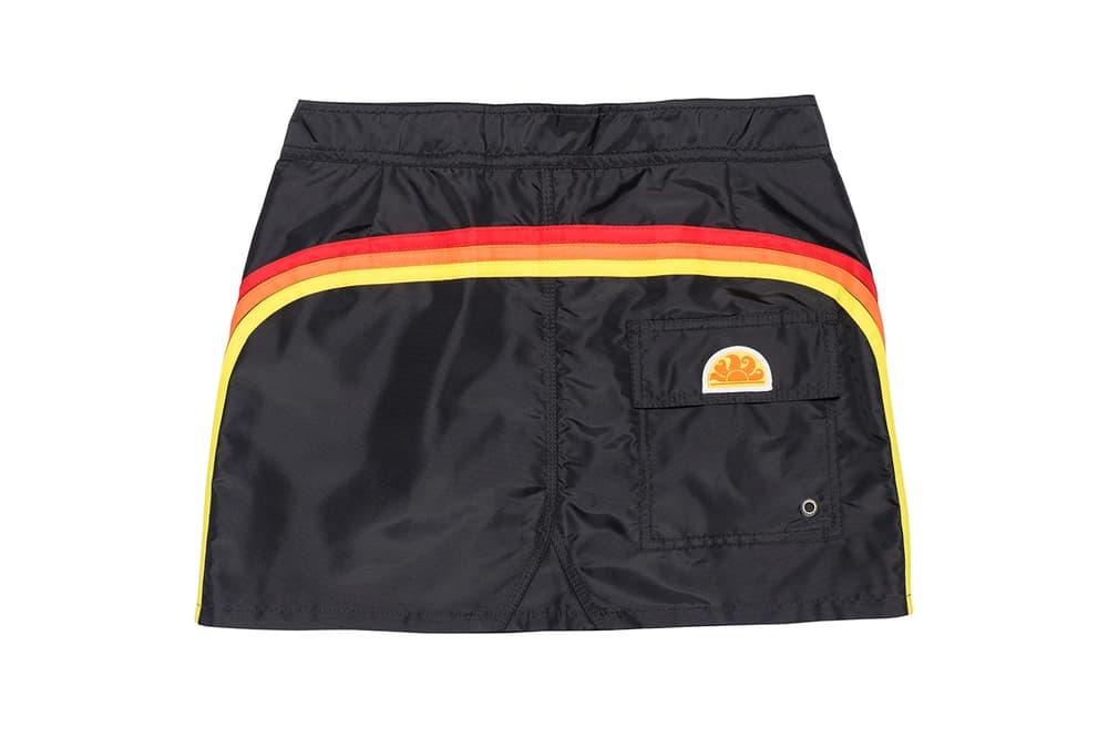Palm Angels x SUN-DEK Collaboration Collection Mini Skirt Black