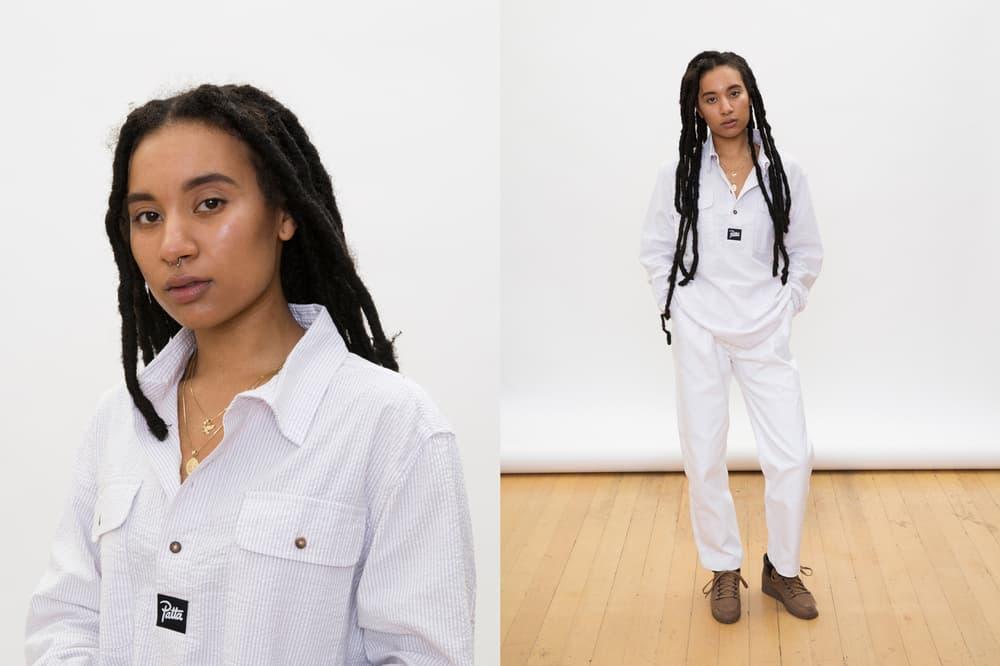 Patta Summer 2018 Collection Two-Piece Set Shirt Pants Denim White