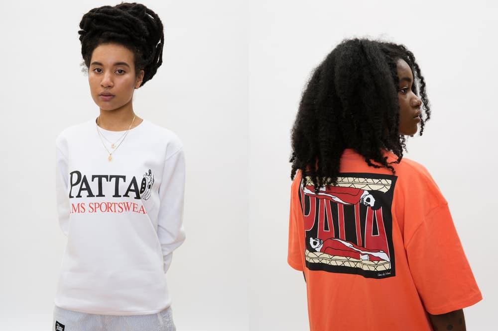 Patta Summer 2018 Collection Sweatshirt T-Shirt White Orange