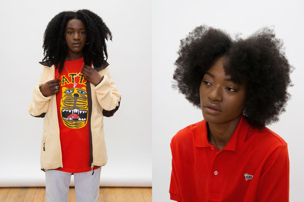 Patta Summer 2018 Collection Graphic T-Shirt Collared Shirt Jacket Red Tan