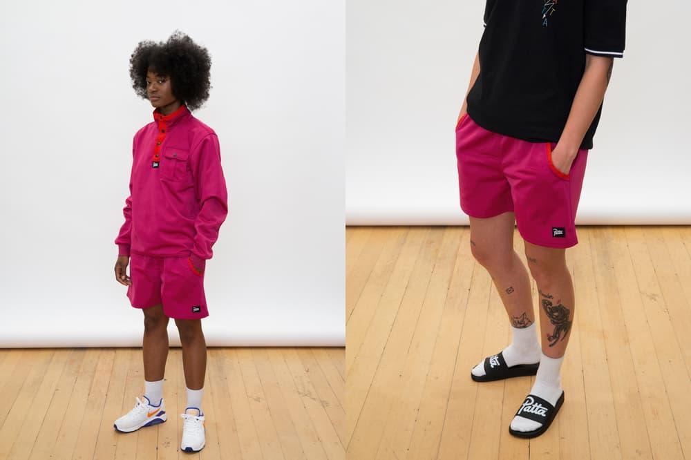 Patta Summer 2018 Collection Button-Up Jacket Shorts Shirt Magenta Pink Black