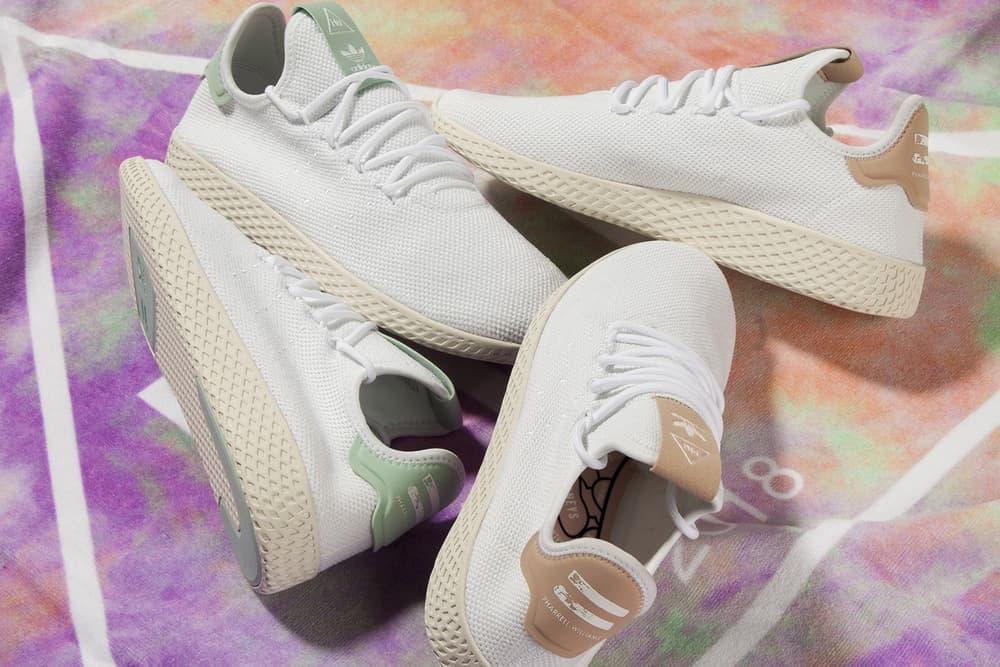 Pharrell Williams x adidas Originals Tennis Hu White Mint Chalk