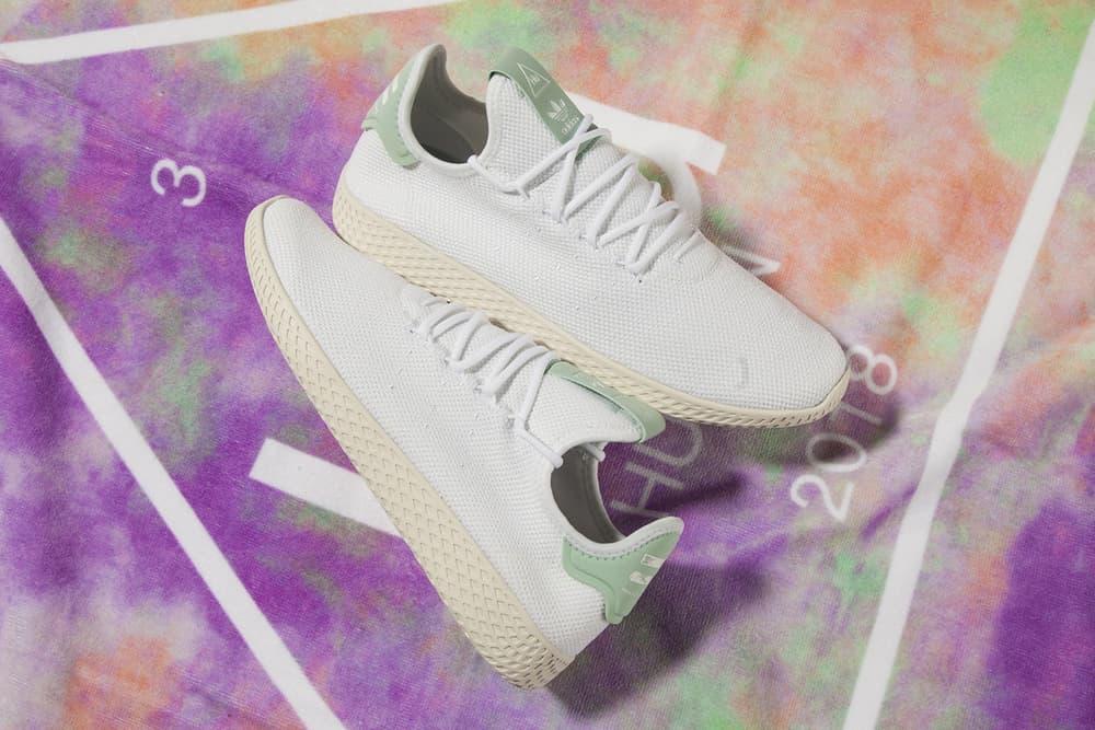 Pharrell Williams x adidas Originals Tennis Hu White Mint