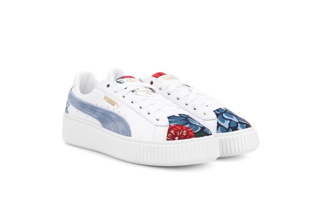 premium selection 37c31 dc9ad PUMA Basket Heart Platform Embroidery Sneakers | HYPEBAE