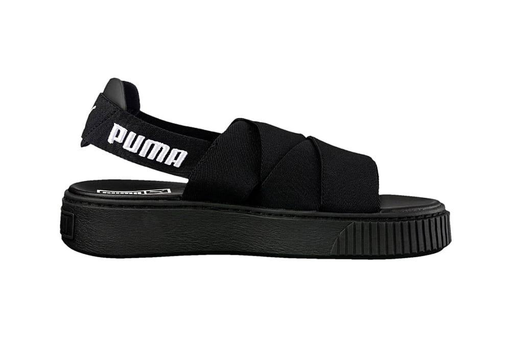 PUMA Drops Platform Sandals in Black