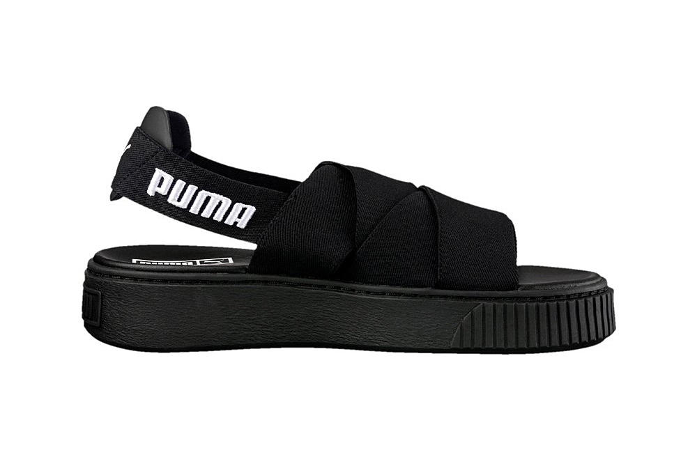 928a653f41ee PUMA platform sandals black and white monochrome logo slingback slip-on  women s where to buy