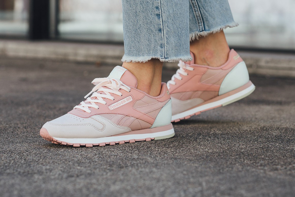 Reebok s Classic Leather Just Dropped in a New Dusky Pink 8a2fa8d59917