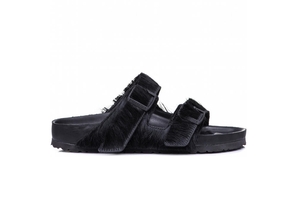Rick Owens x Birkenstock Collaboration Pre-Order Collection Sandals Grey Pony Hair