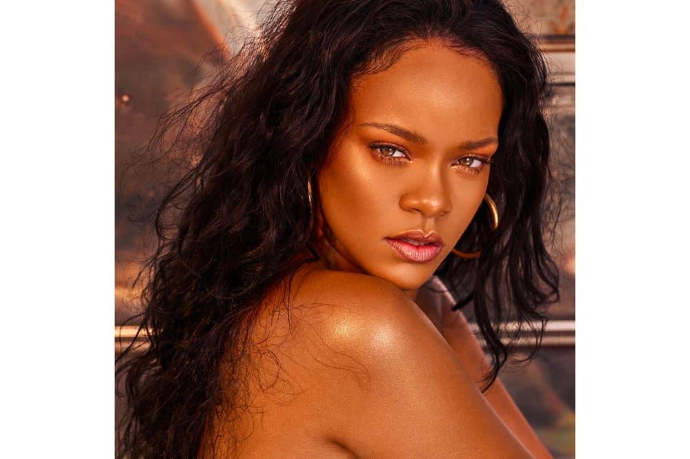 Rihanna Fenty Beauty Metallic Lip Color Lipstick Shade Gold Shimmery Glittery Beach Please Body Lava Highlighter Glow Italy Sephora Harvey Nichols Price Release Where to Buy