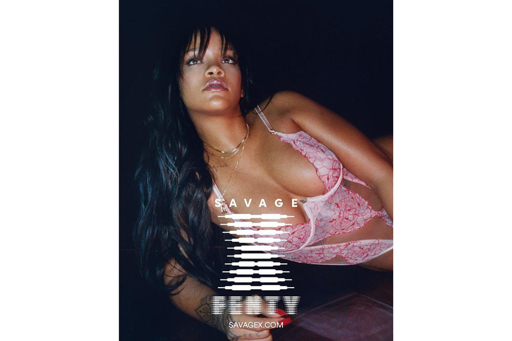 Rihanna Savage X Fenty Lingerie Brand Pink Lace Bodysuit Launch Date May 11 Bras Intimates Underwear Briefs Thongs Release Where to Buy Size Price Website Online Store