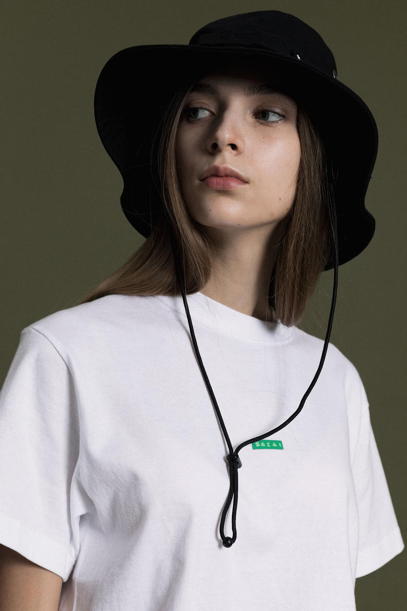 Sacai x Fragment Design Capsule Collection T-Shirt Hat White Black