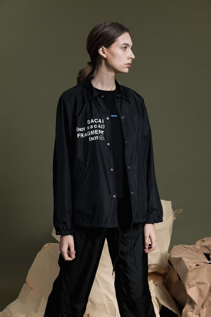 Sacai x Fragment Design Capsule Collection Coach Jacket Black