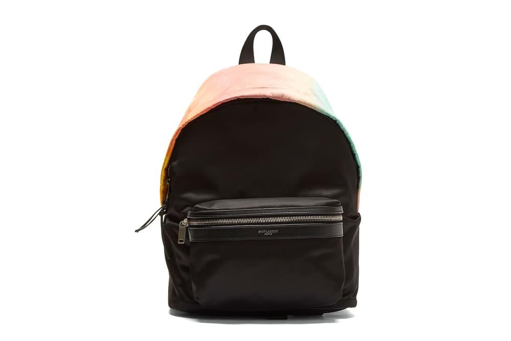 Saint Laurent Faded Ombré Rainbow Backpack Black Where To Buy LN-CC