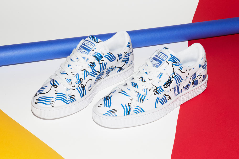 Shantell Martin x PUMA Spring/Summer 2018 Drop 2 Basket White Blue
