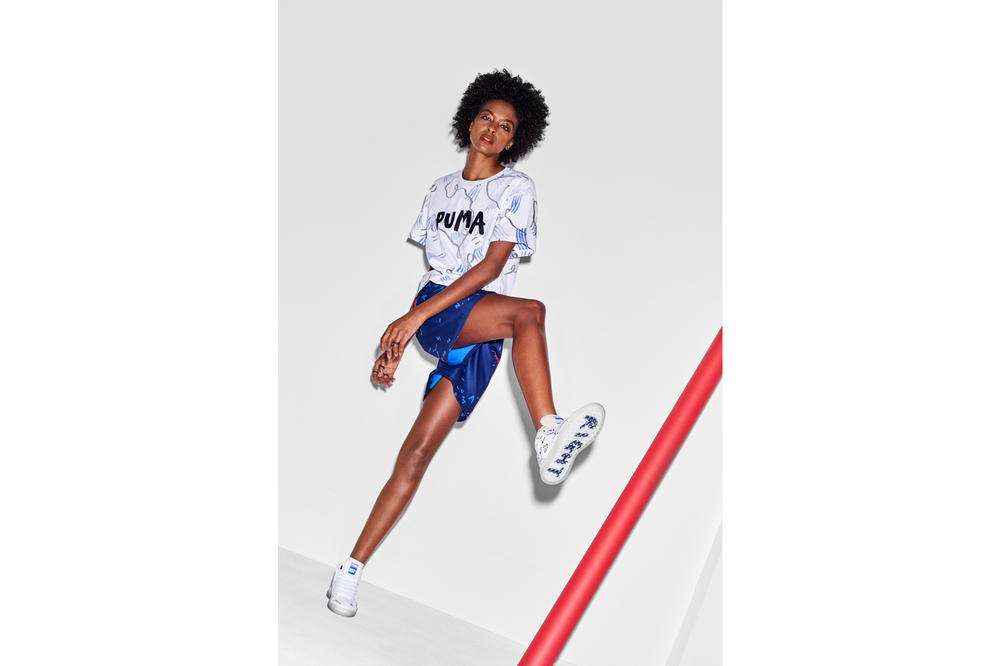 Shantell Martin x PUMA Spring/Summer 2018 Drop 2 T-Shirt Shorts White Blue