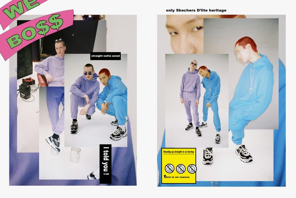e87da2eda08c ... sale 6e78e 4aedd Skechers Korea DLites Extreme Sneaker Campaign Black  White Wild Panda Golden Panda Chunky ...