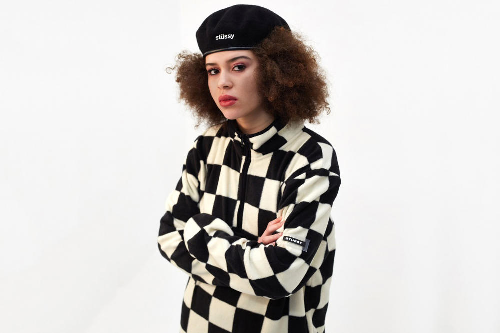 Stussy Monochrome Checkerboard Fleece Black White Women's Mens Unisex where to buy goodhood london