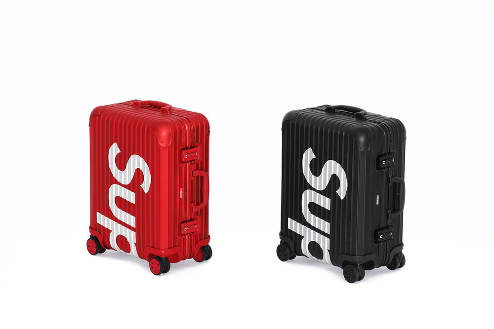 Supreme x RIMOWA Suitcase Collection Red/Black Metal Travel Case Logo