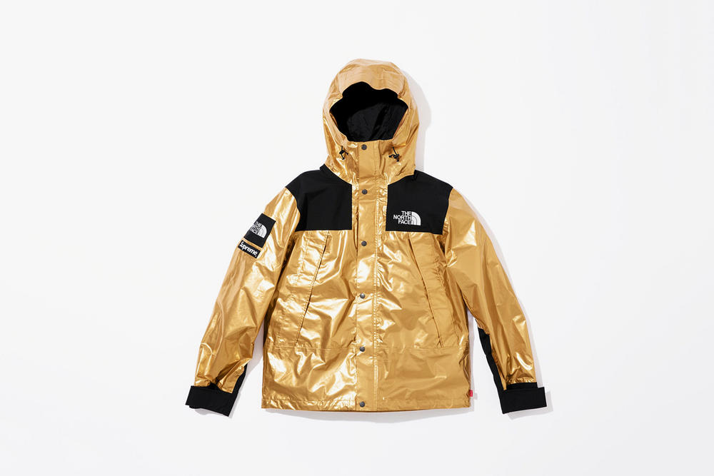 Supreme x The North Face Spring 2018 Metallic Collection Mountain Parka Gold