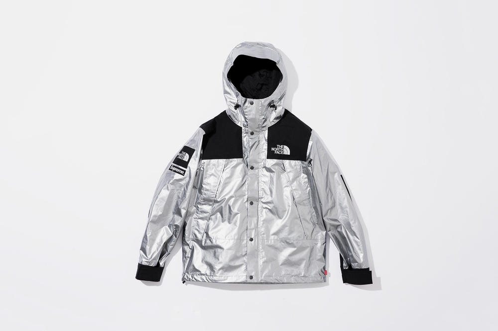Supreme x The North Face Spring 2018 Metallic Collection Mountain Parka Silver