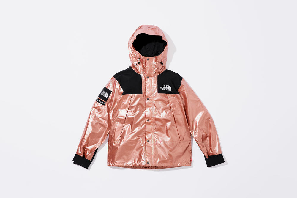 Supreme x The North Face Spring 2018 Metallic Collection Mountain Parka Rose Gold