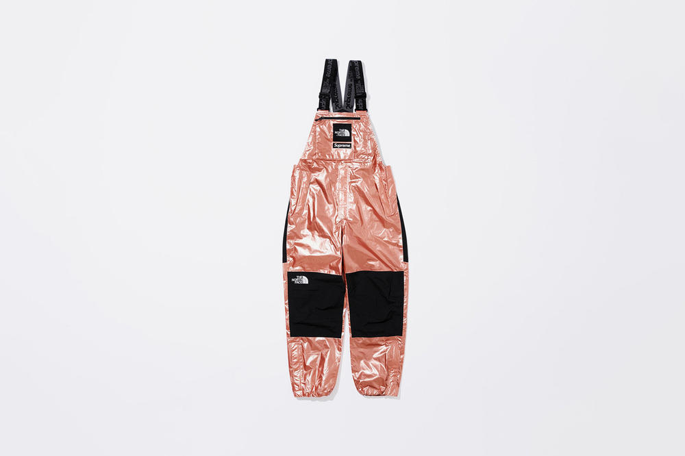 Supreme x The North Face Spring 2018 Metallic Collection Mountain Bib Pants Rose Gold