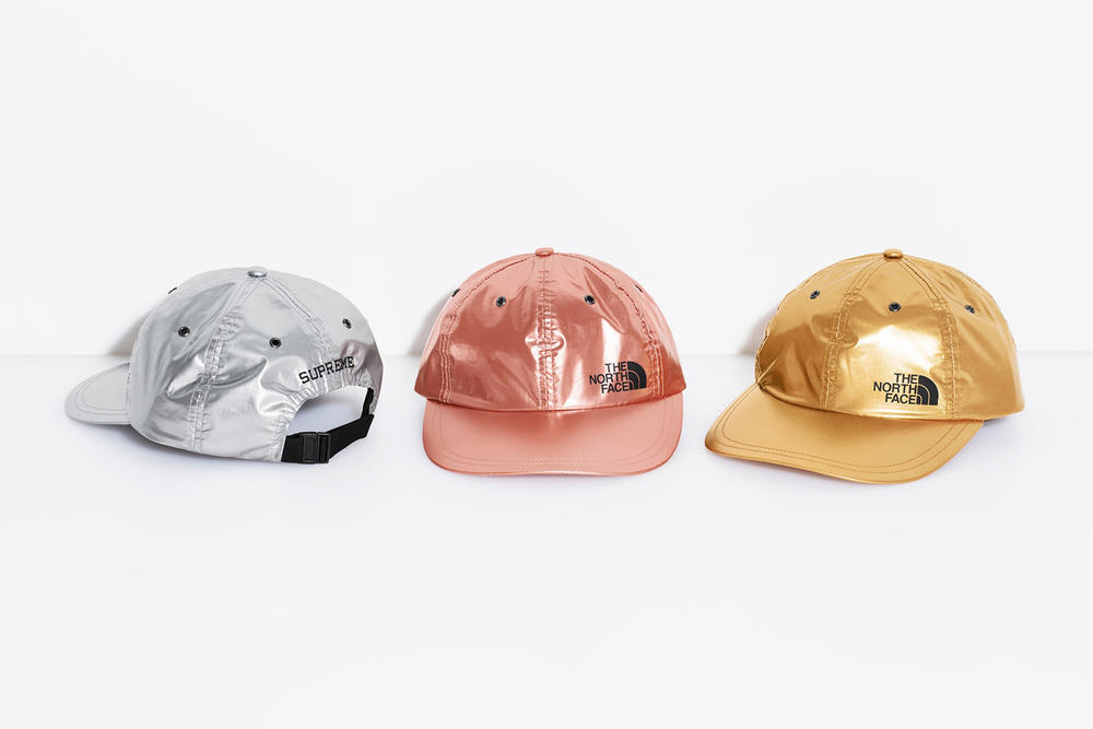 Supreme x The North Face Spring 2018 Metallic Collection 6-Panel Cap Gold Rose Silver