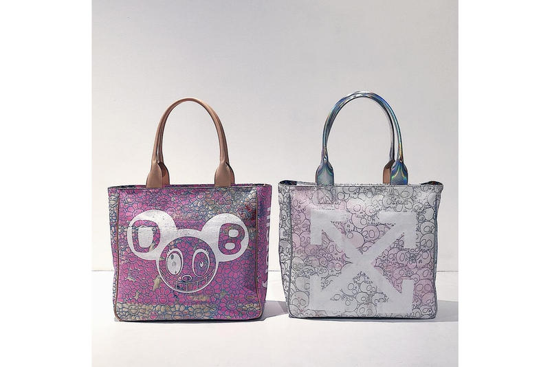 f653c85f3072 Takashi Murakami x Off-White Tote Bag First Look Pattern Future History  Print Collaboration Collection