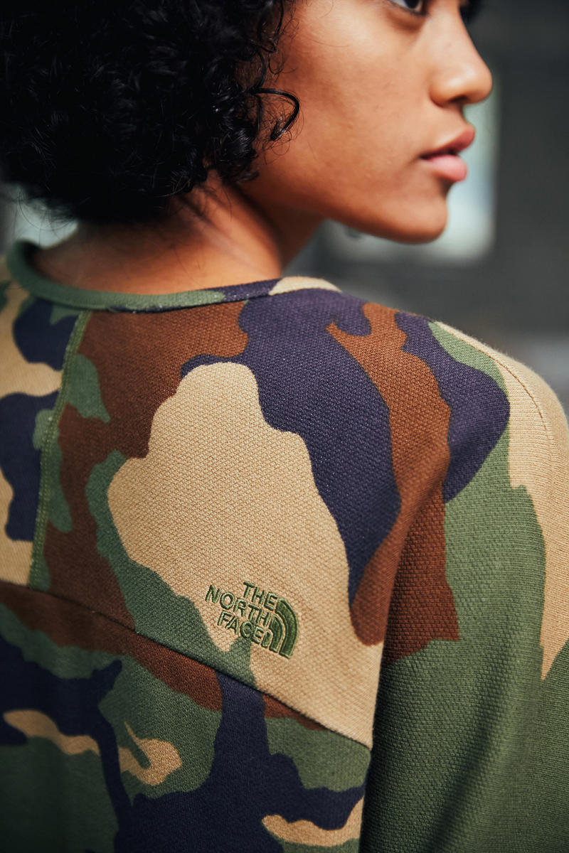 The North Face Urban Exploration Black Series Spring/Summer 2018 Collection Lookbook Shirt Camo