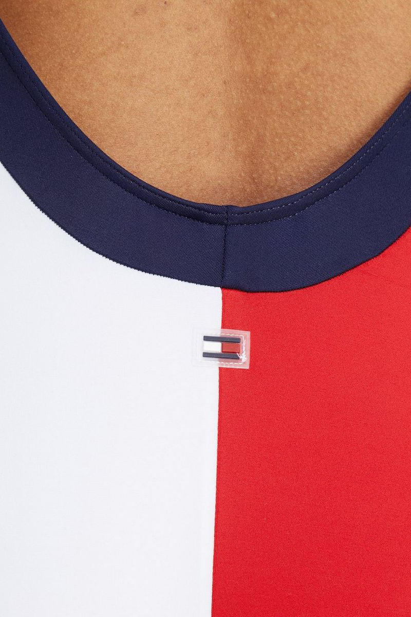 tommy hilfiger flag swimsuit onesie