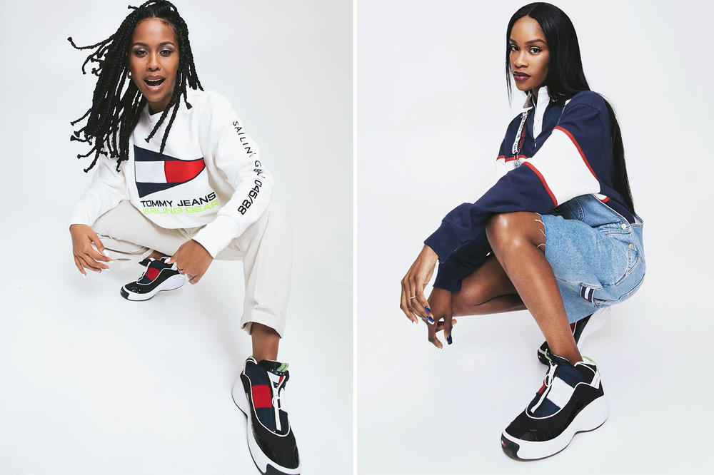 f9baa94b Tommy Hilfiger Jeans Fly Sneaker Spring 2018 Salma Slims IAMDDB Campaign