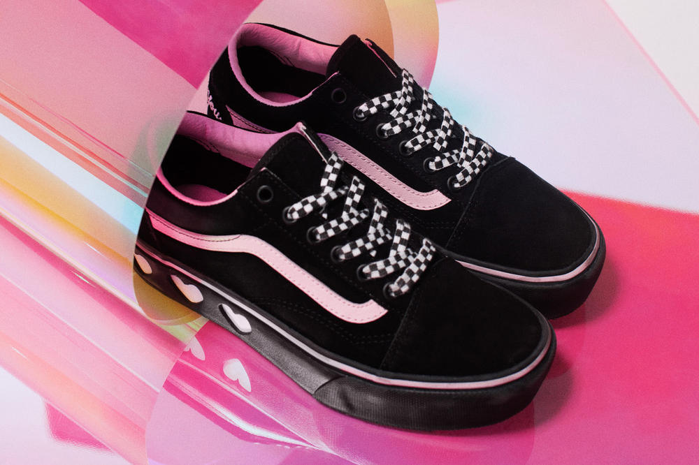 c12ec116df4c11 Vans x Lazy Oaf Collaboration Collection 2018 Where to Buy Old Skool  Platform Style 29 Slip